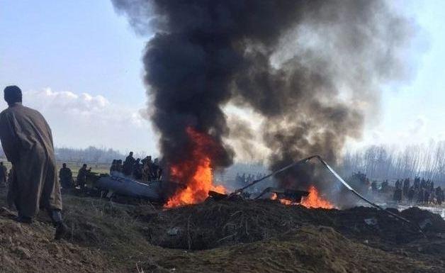 जम्मू–कश्मीरमा भारतीय वायुसेनाको लडाकु विमान दुर्घटना